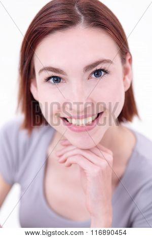 Happy Young Beautiful Woman
