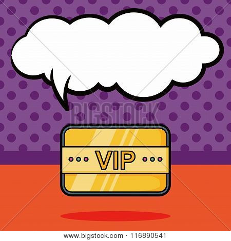 Vip Card Doodle