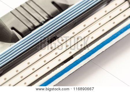 Macro Close Up Of A Razor Blade