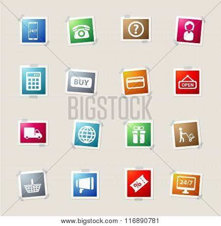 E-commerce simply icons