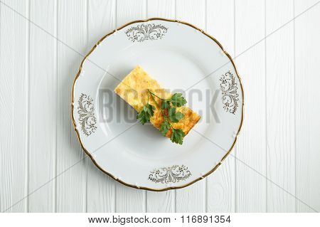 Dietary cheese casserole