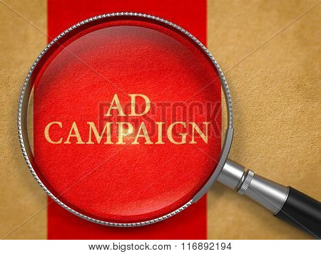 Ad Campaign Concept through Magnifier.