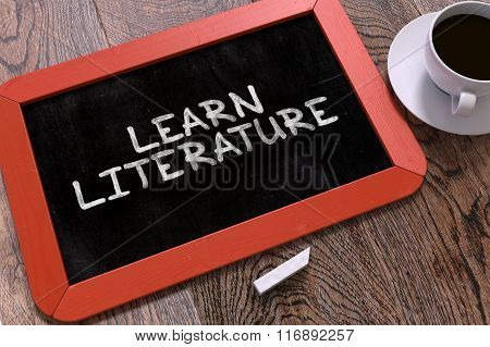 Hand Drawn Learn Literature Concept on Chalkboard.