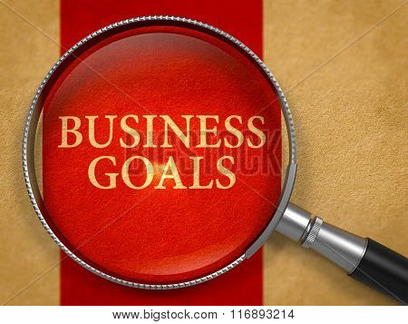 Business Goals through Magnifying Glass.
