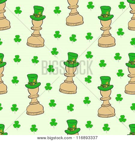 Seamless pawns of Saint Patrick