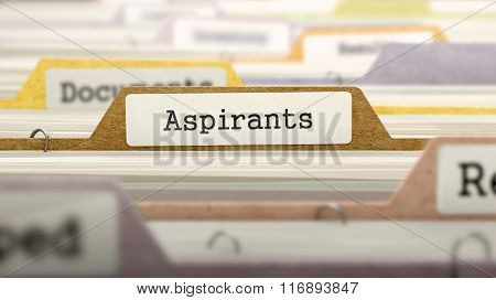 File Folder Labeled as Aspirants.