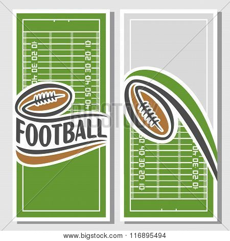 Abstract illustrations for a text on the subject of american football