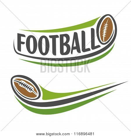 Abstract  images on the american football theme