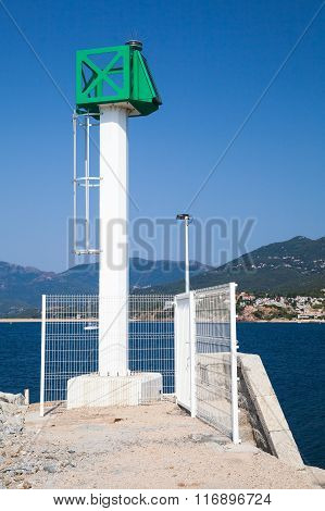 Modern Lighthouse Tower, Propriano, Corsica