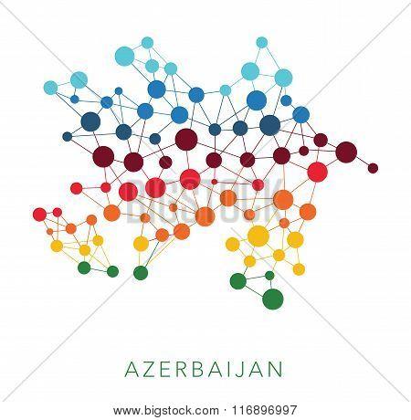 dotted texture Azerbaijan vector background