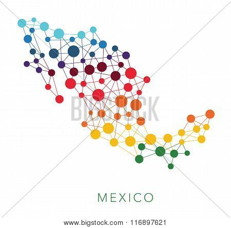 dotted texture Mexico vector background