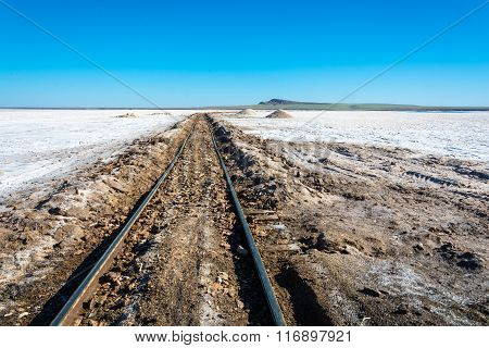 The Railroad At Lake Baskunchak.