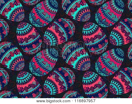 Easter Zentangle Eggs Ethnic Native Abstract Pattern 6