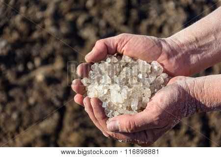 Baskunchak Lake Salt.