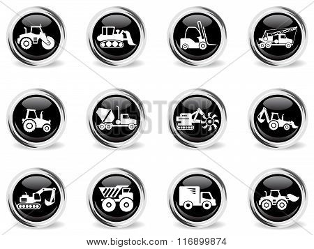 Transportation and Construction Machines icons