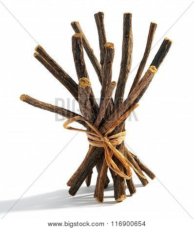 Bundle Of Dried Licorice Roots