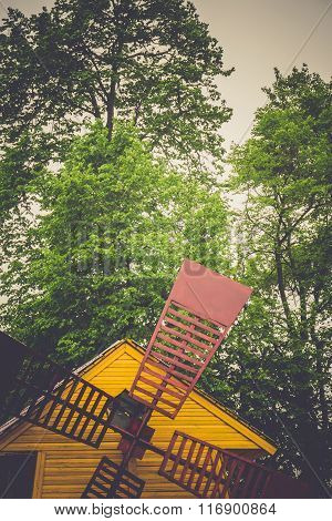 Retro Yellow Windmill