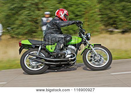 Vintage bike racer
