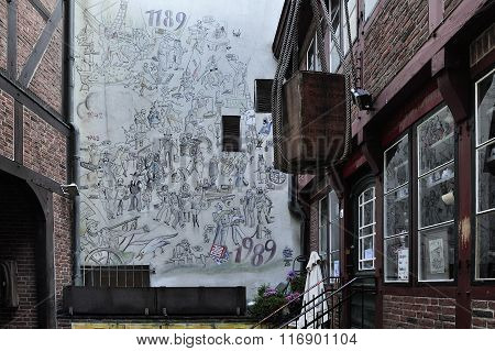The Cortyard On Krayenkamp Street, Hamburg, Germany