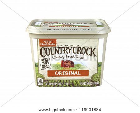 Container Of Country Crock Vegetable Oil Spread