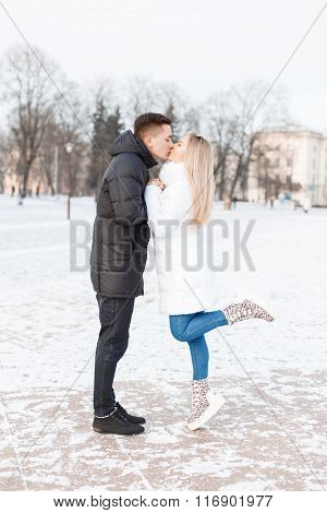 Young Couple Met In The City.
