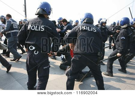 Police attack on May Day