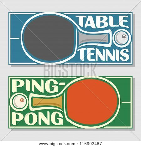 Background images for text on the subject of table tennis and ping-pong