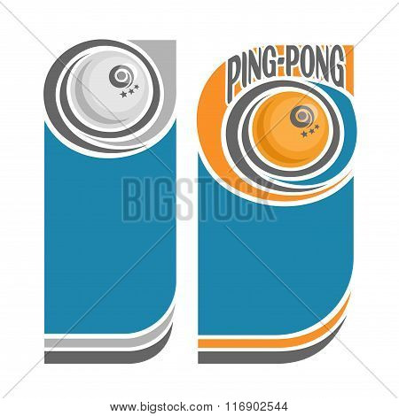 Background images for text on the subject of ping-pong