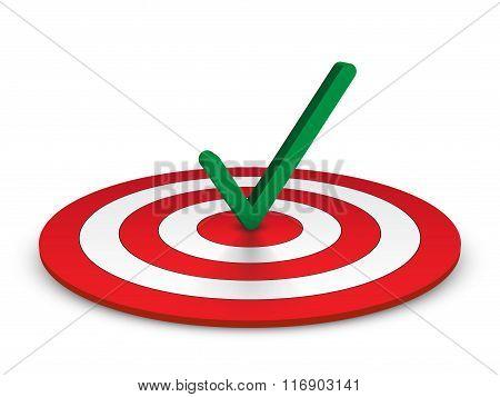 Check Mark And Target