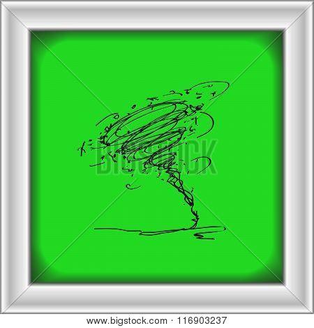 Simple Doodle Of A Tornado
