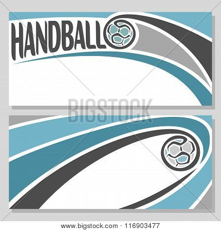 Background illustrations for text on the theme of handball