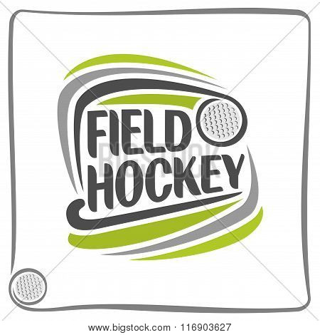 Creative image on the field hockey theme