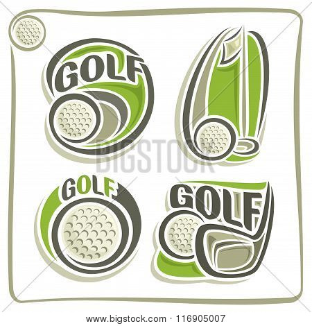 A set of illustrations on the theme of golf