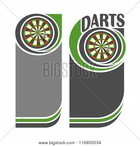 Background Illustrations for text on the theme of darts