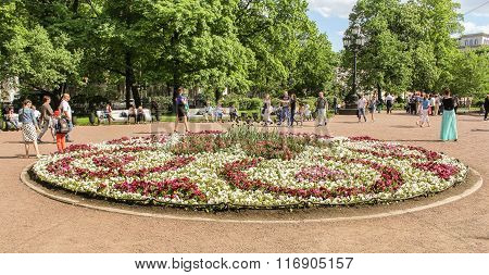 People At The Flower Beds.