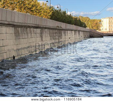 Granite Neva Embankment.