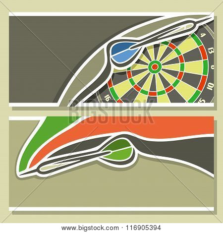 Abstract images for text on the theme of darts
