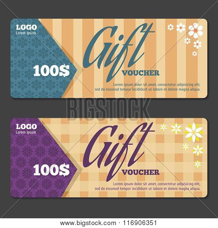 Gift certificate design template