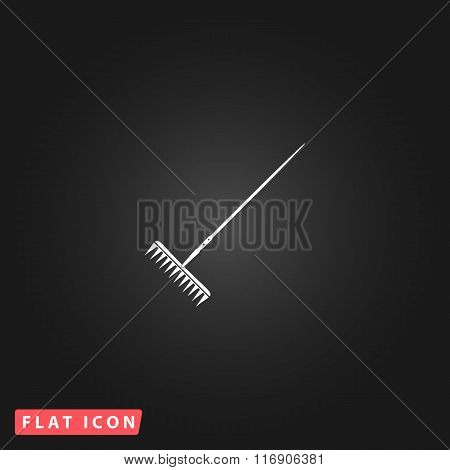 Rake icon. Elements in flat design.