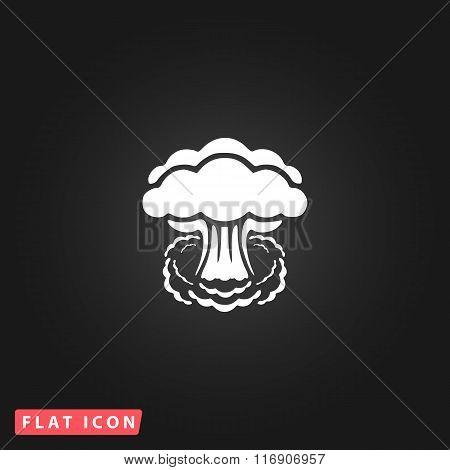 Mushroom cloud flat icon