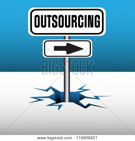 Outsourcing signpost