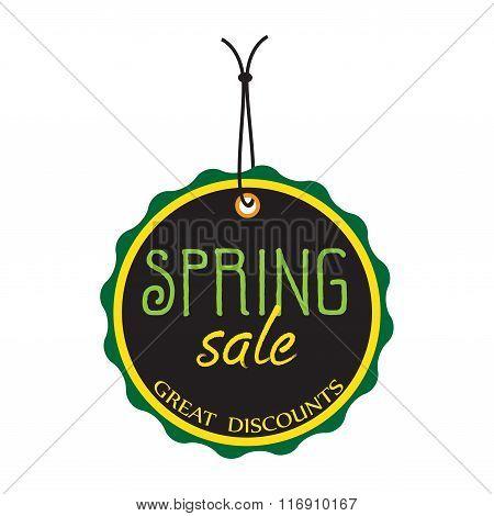 Spring sale tag