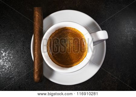 Coffee with a cigar