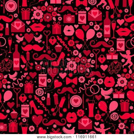 Valentines Day Seamless Pattern On