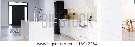 Interior With Kitchen Island