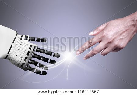 Robot Human Hand Connection