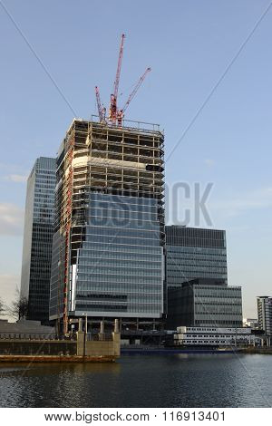 European Medicines Agency building being built - Canary Wharf