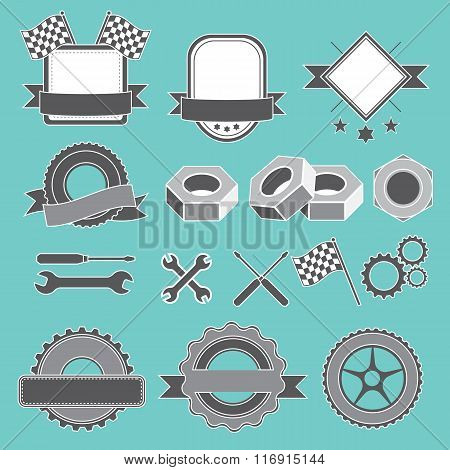 Set of emblem, logotype for mechanic, garage, car repair, service