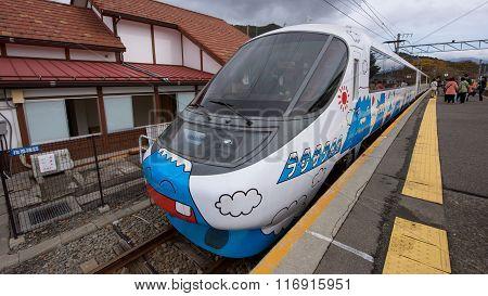Train Painted Mt. Fuji