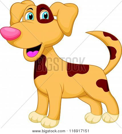 vector illustration of Dog cartoon character isolated on white